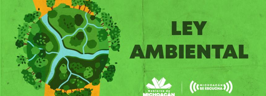 Se busca modificar la Ley Ambiental en Michoacán