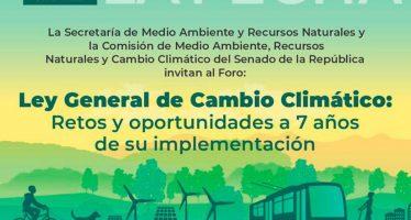Foro: Ley General de Cambio Climático: retos y oportunidades a 7 años de su implementación