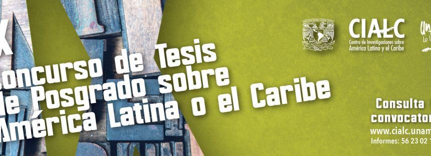 IX Concurso de tesis de posgrado sobre América Latina o el Caribe