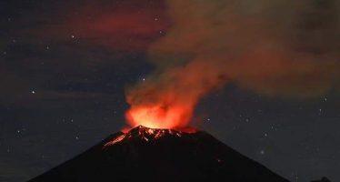 Crece cráter interno del Popocatépetl tras explosiones