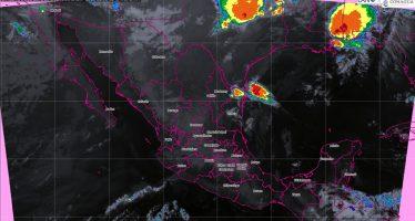 Tormentas puntuales fuertes con posible granizo en Baja California, Nuevo León, Tamaulipas, San Luis Potosí y Chiapas