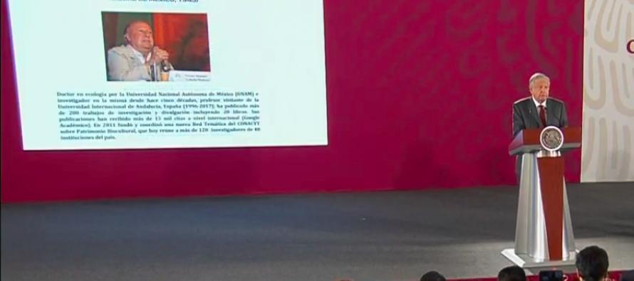 Víctor Manuel Toledo, nuevo titular de la Semarnat