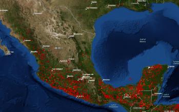Mapa de los incendios forestales desde satélite de la NASA