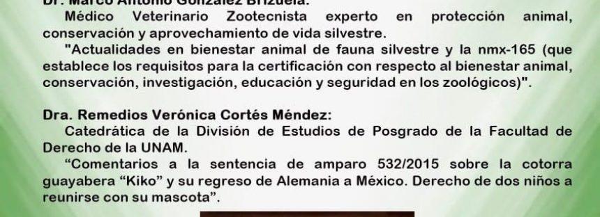 Conferencia Derecho ambiental y protección animal