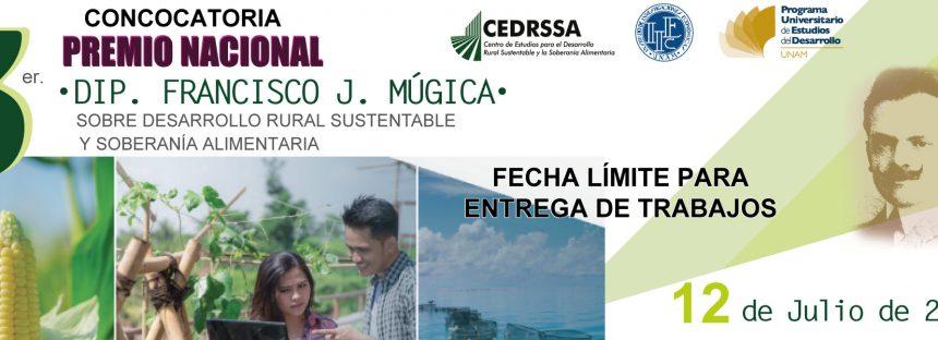 Convocatoria para el tercer premio nacional Dip. Francisco J. Múgica 2019