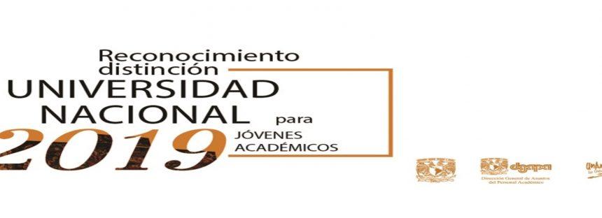 Reconocimiento Distinción Universidad Nacional Para Jóvenes Académicos
