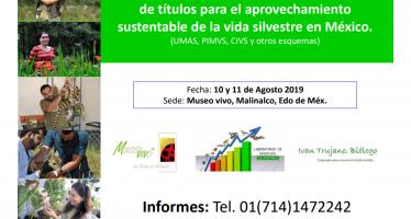 Formación intensiva en el registro y gestión de títulos para el aprovechamiento sustentable de la vida silvestre en México