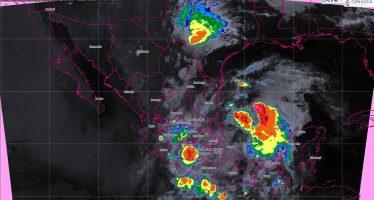 Se prevén tormentas torrenciales en Tamaulipas, Puebla y Veracruz e intensas en Michoacán, Guerrero, Hidalgo, Oaxaca y Chiapas