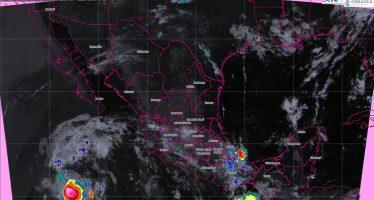 Se prevén lluvias intensas en Chiapas y Tabasco, y muy fuertes en Puebla, Veracruz, Guerrero, Oaxaca y Campeche