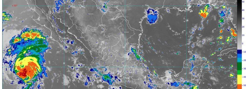 En Puebla, Veracruz y Oaxaca se prevén lluvias intensas, actividad eléctrica y posibles granizadas