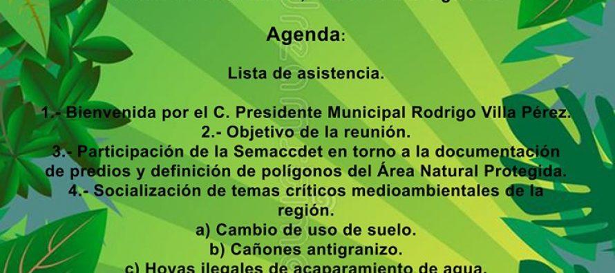 Reunión del proyecto de Áreas Naturales Protegidas de Madero, Acuitzio y el sur de Morelia