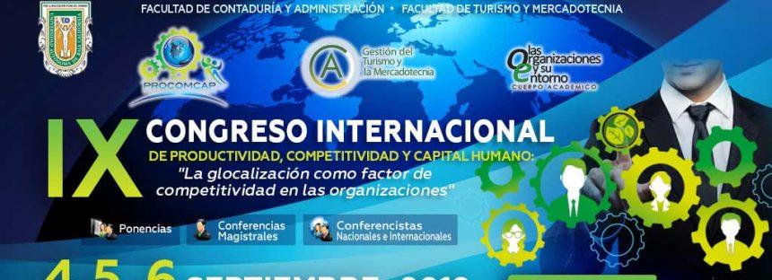 IX Congreso internacional de productividad, competitividad y capital humano