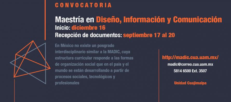 Maestría en Diseño, Información y comunicación