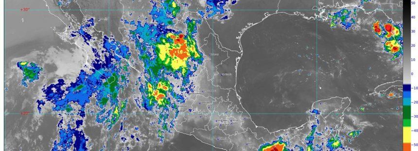 Se pronostican lluvias intensas para Chiapas y muy fuertes para Chihuahua, Durango, Sinaloa y Tabasco