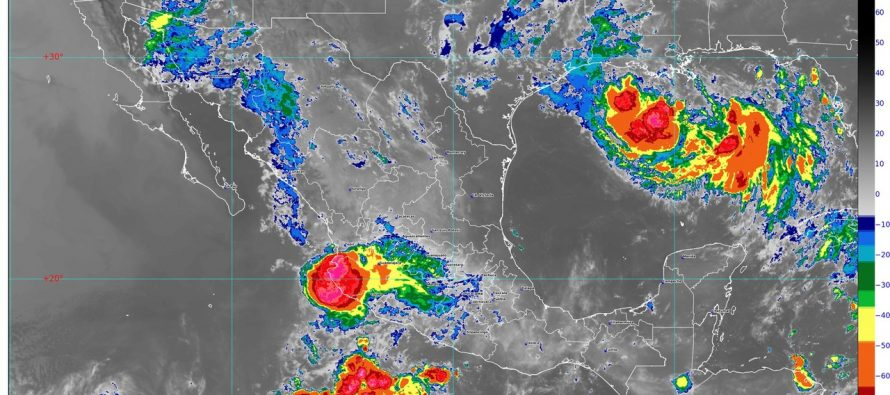 Se pronostican lluvias intensas para zonas de Jalisco, Colima, Michoacán, Guerrero y Oaxaca