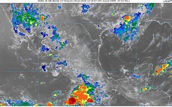 Lluvias muy fuertes con descargas eléctricas se prevén hoy en Sonora, Chihuahua, Durango y Sinaloa