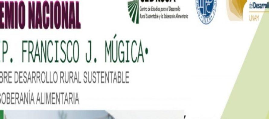 """3er premio nacional """"Dip. Francisco J. Mujica"""" sobre el desarrollo rural sustentable y soberanía alimentaria"""