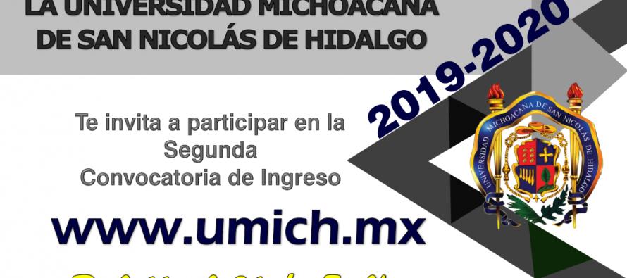 Segunda convocatoria de ingreso UMSNH