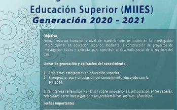 Maestría en Investigación Interdisciplinar en Educación Superior