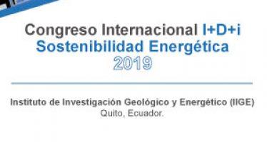 Congreso I+D+i en Sostenibilidad Energética  2019