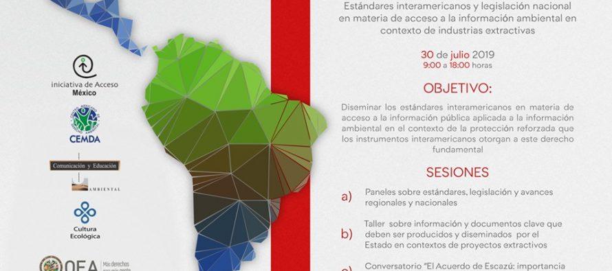 """Taller """"Estándares interamericanos y legislación nacional en materia de acceso a la información ambiental en contexto de industrias extractivas"""