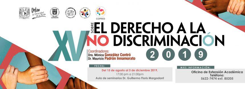 XV Diplomado sobre el derecho a la no Discriminación