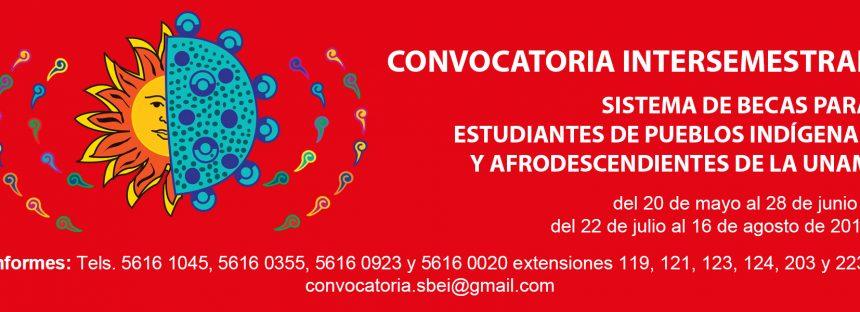 Convocatoria intersemestral sistema de becas para estudiantes de pueblos indígenas y afrodescendientes de la UNAM