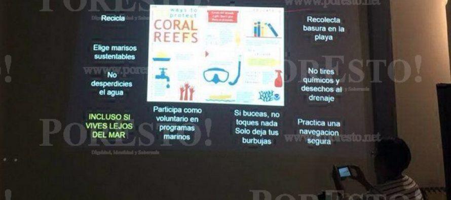 Taller de periodismo ambiental sobre arrecifes
