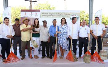 DIF Sinaloa y la Secretaría de Pesca entregan 300 despensas y apoyos a familias del campo pesquero Jitzamuri