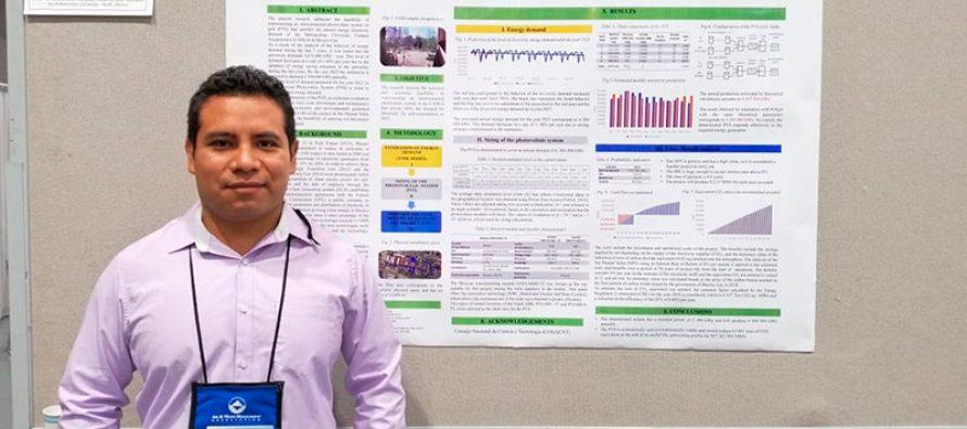 Premian en Canadá trabajo de estudiante de la UAM para abastecer toda la energía, con celdas solares