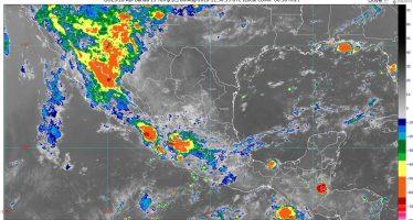 Hoy se pronostican lluvias puntuales intensas con descargas eléctricas en Oaxaca y Chiapas