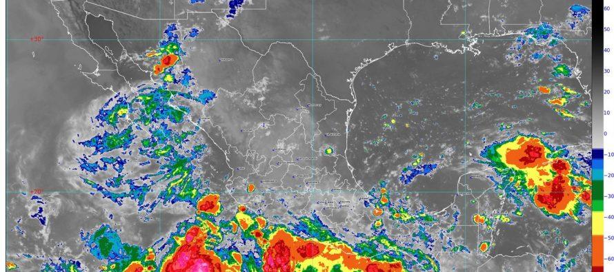 Lluvias intensas se pronostican en Jalisco, Colima, Michoacán y Chiapas