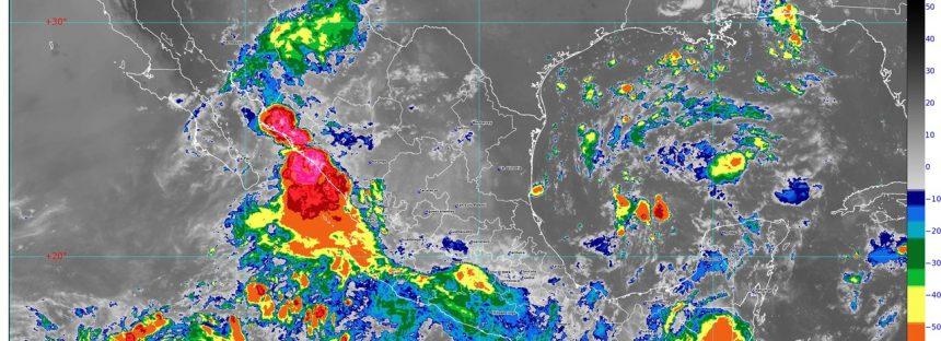 Se prevén lluvias puntuales intensas en Chihuahua, Durango, Sinaloa y Nayarit