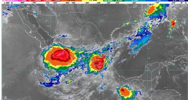 Para hoy se prevén lluvias puntuales muy fuertes en Nayarit, Jalisco, Durango, Zacatecas, Aguascalientes, San Luis Potosí y Chiapas