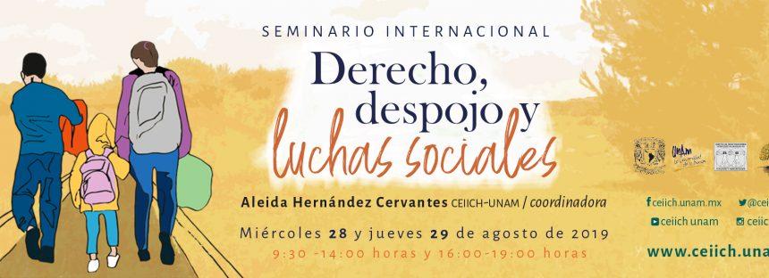 Seminario internacional: Derecho, despojo y luchas sociales