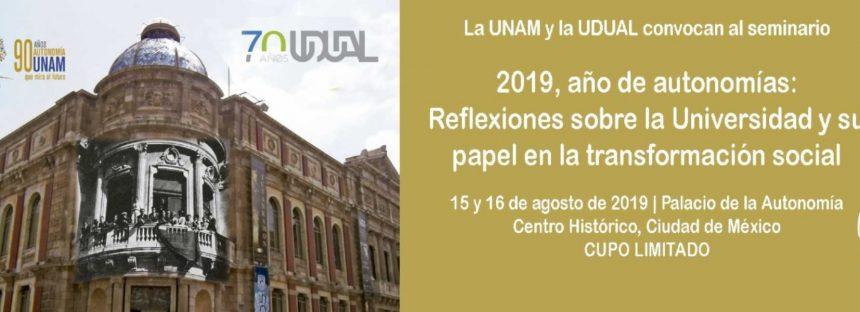 2019, año de autonomías:  Reflexiones sobre la Universidad y su papel en la transformación social
