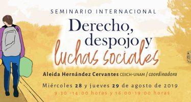 Seminario internacional Derecho, despojo y luchas sociales