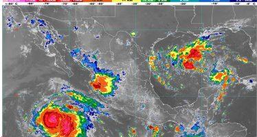Se prevén lluvias muy fuertes en regiones de Sinaloa, Durango, Tamaulipas, Veracruz, Oaxaca y Chiapas