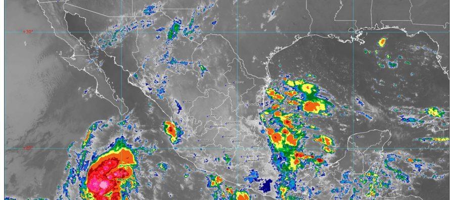 Se prevén lluvias intensas en Nayarit, Jalisco, Colima, Michoacán, Oaxaca, Chiapas y Veracruz