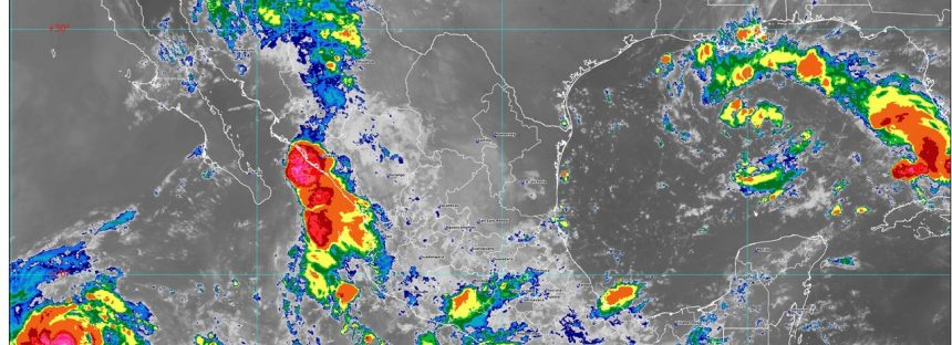 Se pronostican lluvias intensas para Veracruz, Oaxaca y Chiapas