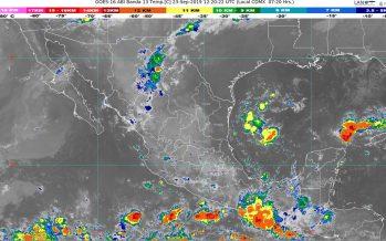 Prevén lluvias muy fuertes en Nayarit, Jalisco, Michoacán, Guerrero, Oaxaca, Chiapas y Campeche