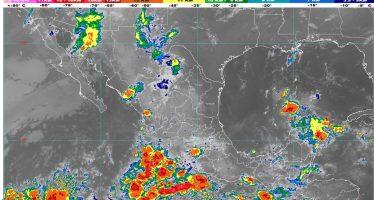 Lluvias intensas se prevén en regiones de Chiapas, Campeche, Yucatán y Quintana Roo