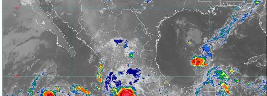 Hoy se pronostican lluvias intensas para Guerrero, Oaxaca, Veracruz, Tabasco y Campeche