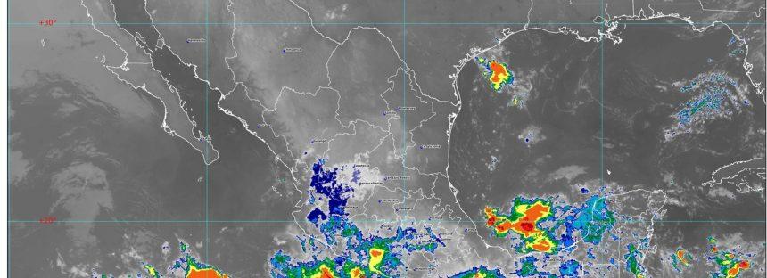Se prevén lluvias torrenciales en Chiapas e intensas en Guerrero y Oaxaca
