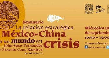 Seminario: La relación estratégica México-China en un mundo en crisis