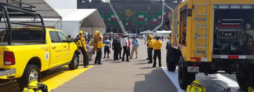 Feria Nacional de Protección Civil se realiza con el tema de incendios forestales