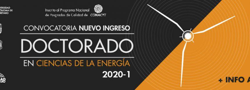 Convocatoria nuevo ingreso doctorado en Ciencias de la Energía