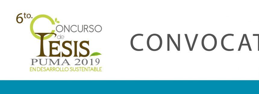 6° Concurso de tesis Puma 2019 en Desarrollo Sustentable