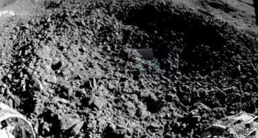 Muestran la primera imagen de la «extraña sustancia» hallada en la cara oculta de la Luna