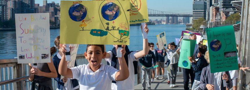 Los niños y jóvenes tienen derecho a protestar por el cambio climático sin ser acosados